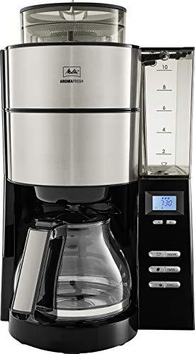 Melitta Aroma Fresh Kaffeemaschine inkl. Mahlwerk und abnehmbaren Wassertank, schwarz