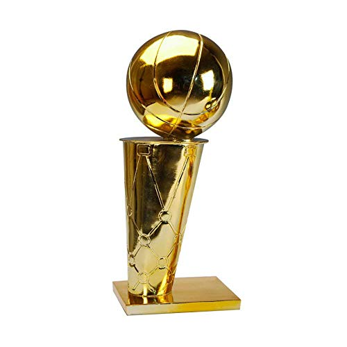 Happy dumplings NBA Basketball Resin Plating Trofeo O'brien Cup Raptors Championship Trophy Competition Regalos Personalizados 1: 1 Basketball Fans Regalos Personalizados,Gold,6.3in
