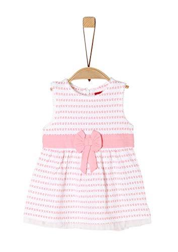 s.Oliver Unisex - Baby Jerseykleid mit Schleifen-Detail white AOP 92