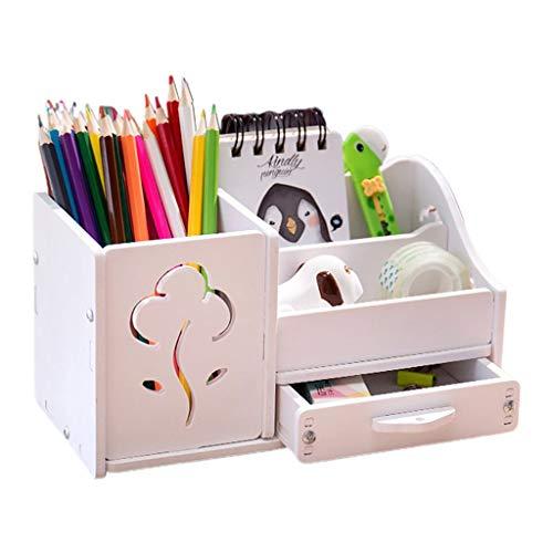 JHD Función Muiti DIY Escuela Escritorio bolígrafo lápices cajón Caja de Almacenamiento Mesa Simple lápiz Estante Titular Oficina papelería Suministros