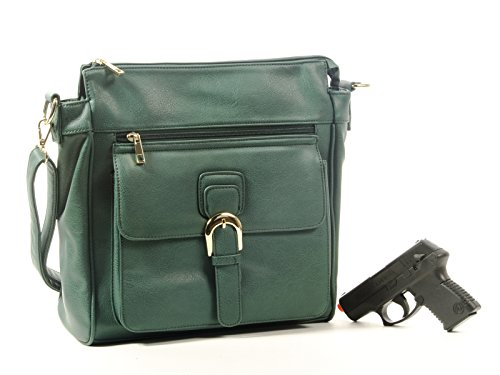 Goson Front Buckle Concealed Gun Handbag Bundle with Stylish Sunglasses