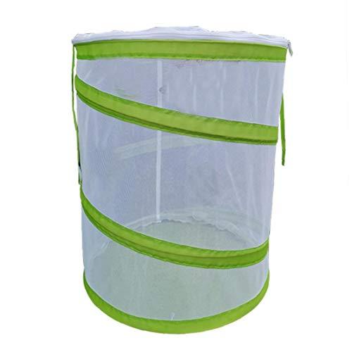 Kacniohen Insekt Habitat Cage Net Insektenterrarium Mesh-Käfig Insekten- und Schmetterling Runde Net mit Zipper Schutz M