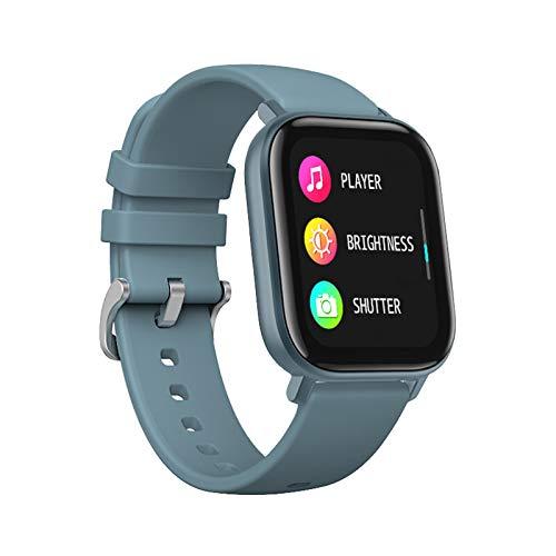 Reloj Inteligente LIGE con Monitor De Frecuencia Cardíaca, Pantalla Táctil De 1,4 Pulgadas, Rastreador De Actividad Física, Podómetro Impermeable IP67, Monitor De Sueño para Android iOS Azul