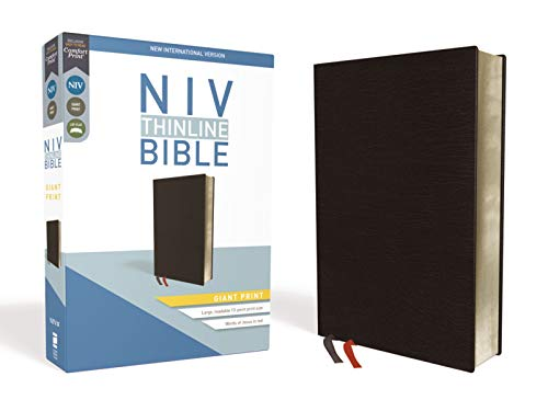 Compare Textbook Prices for NIV, Thinline Bible, Giant Print, Bonded Leather, Black, Red Letter, Comfort Print Special ed. Edition ISBN 9780310448594 by Zondervan