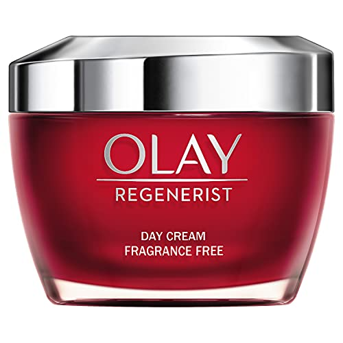Olay Regenerist 3 Point Face Cream with Hyaluronic Acid, Fragrance Free, 50 ml