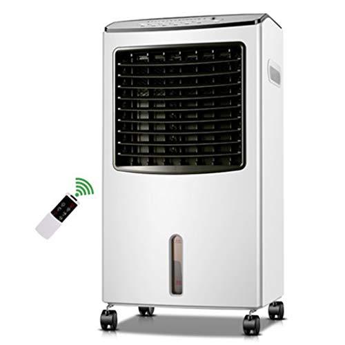 Raffrescatore Evaporativo Portatile Domestico Verticale Riscaldamento E Raffreddamento A Doppio Uso Ventilatore Aria Condizionata 8L Grande Serbatoio di Acqua 7.5H Timer con Cavo Lungo 1.75m