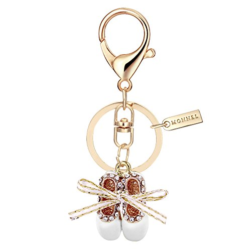 Bling Crystal White Ballet Shoe Keychain Creative Packaging Box MZ853-4 Arizona