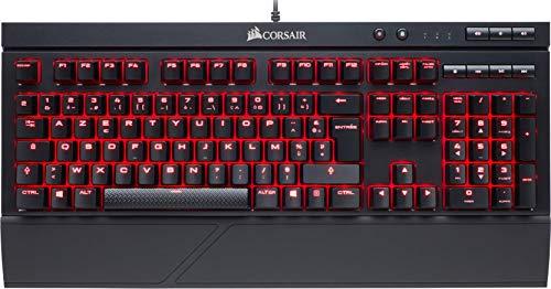 Corsair K68 Red LED Clavier Mécanique Gaming (Cherry MX Red: Lisse et rapide, Rétro-Éclairage Rouge, Étanche et Résistant à la Poussière, AZERTY FR Layout) - Noir