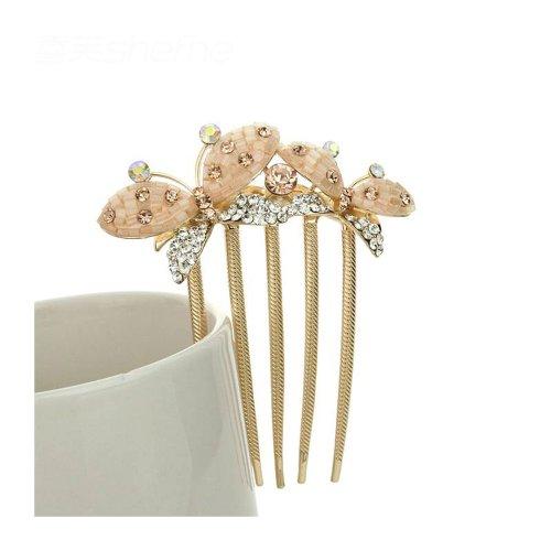 Papillons superbe cristal Plug Peigne Accessoires cheveux coiffe peigne tuck Item : FC0276.
