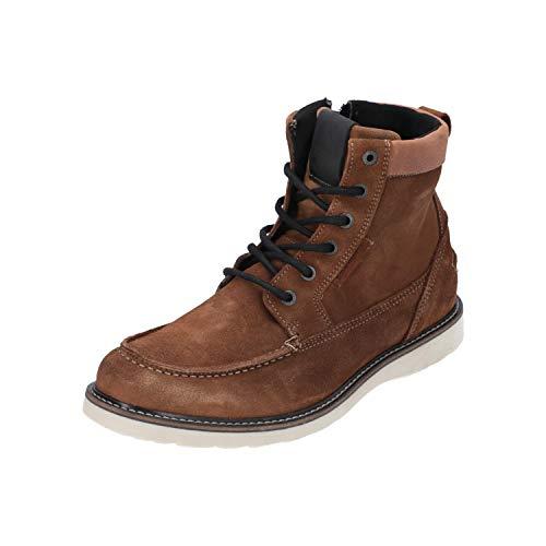 Björn Borg Milan Z MID SUE M Herren Boots Schnür-Leder-Schuhe Hellbraun NEU Sale, Größe:EUR 41 (UK 7) (42 EU)