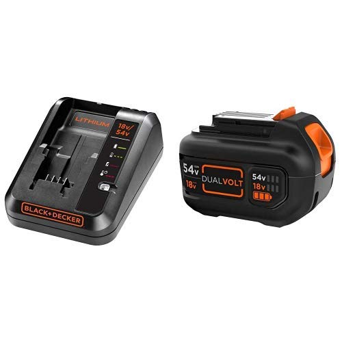 Cargador para batería de litio de 18-54V 2A + Batería de carril Dual Volt 54V 1,5Ah Litio