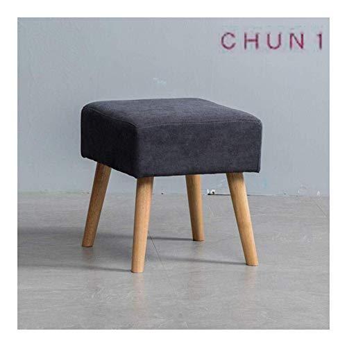 CHU N1 Stoff Fußbank, Schuhmöbel Dressing Hocker Kleiner Apartment Schlafzimmer Sofa Hocker 40cm × 40cm × 44cm (L × B × H) 124 (Size : Dark Gray)