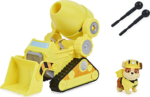 Paw Patrol, Rubble's Deluxe Movie Transforming Toy Car with Collectible Action Figure, Kids Toys for Ages 3 and up