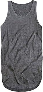 [スワンユニオン] swanunion タンクトップ ロング丈 メンズ 無地 タンク インナー ロング 杢チャコール f256