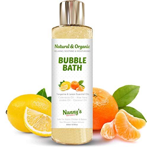 Baño de burbujas | 100% natural 76% orgánico | Mandarina y limón | Ideal para bebés, niños y adultos