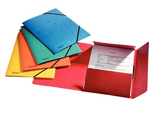 Esselte-Leitz 59140035 Trieur en carton Color avec 24 onglets 1-24 Bleu