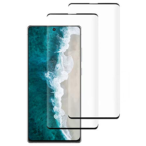 [4 Pack] Galaxy Note 20 Screen Protector Include 2 Pack Tempered Glass Screen Protector + 2 Pack Tempered Glass Camera Lens Protector,9H Hardness,Full Coverage,Anti-Fingerprint for Galaxy Note 20