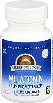 Melatonin 2.5mg Sublingual-Peppermint Source Naturals Inc 120 Lozenge