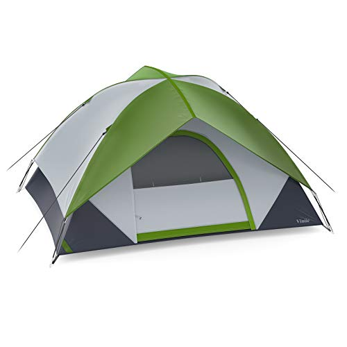 Viniie 2 Person Camping Tent, Waterproof Tent with Removable Rainfly, Lightweight and Easy Set Up, Make Your Camping Trip Comfortable and Enjoyable(Green)