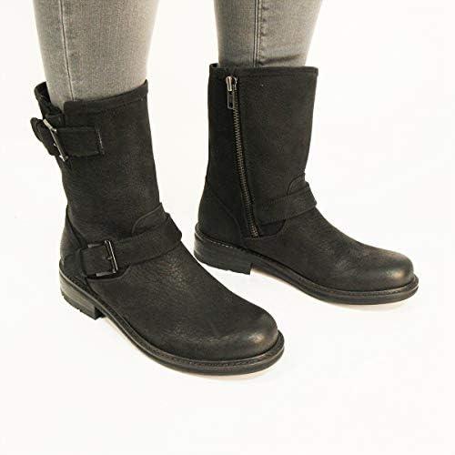 schwarzstone Damen Ql17 Biker Stiefel 17540dubz6980 Neue