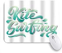 ZOMOY マウスパッド 個性的 おしゃれ 柔軟 かわいい ゴム製裏面 ゲーミングマウスパッド PC ノートパソコン オフィス用 デスクマット 滑り止め 耐久性が良い おもしろいパターン (カイトサーフィンロゴグラフィティスタイル)