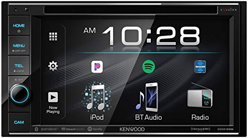 "Kenwood Excelon DDX396 6.2"" Double DIN Bluetooth In-Dash DVD/CD/AM/FM Car Stereo Receiver"