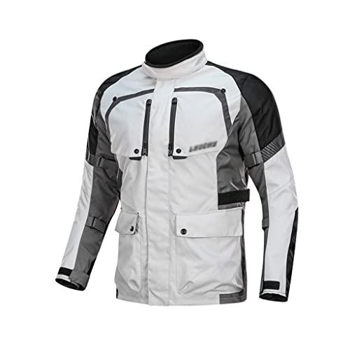 Dzwyc Detechable de Invierno Chaqueta de Motocicleta Impermeable Hombres Cálido Motocross Chaqueta Moto Pantalones Traje Ropa Ropa Equipo Protector (Color : White, tamaño : 8)