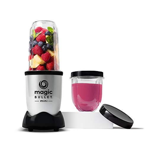 Magic Bullet Mini Blender, 7 Piece Set, 200 Watt with Cross Blade, Silver
