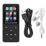 Socobeta Reproductor de música Multimedia portátil Bluetooth MP3 Radio para(Black)