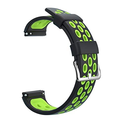 WSGGFA Correas de silicona transpirable multiagujero correa deportiva ajustable correa de repuesto para Huawei Watch GT2e correa (color de la correa: 11, tamaño: para WATCH GT 2e)