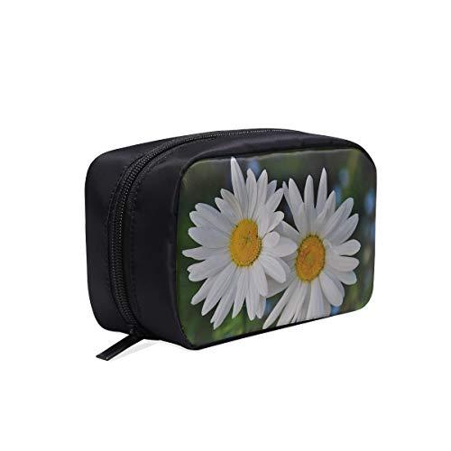 Sacs à cosmétiques de couleur Daisy Daisies Plante fleurie Fleurs naturelles Bloom Jeunesse Sac de voyage Bagage à main Sac de voyage Sacs de voyage Maquillage Sacs à cosmétiques Étui multifonctionne