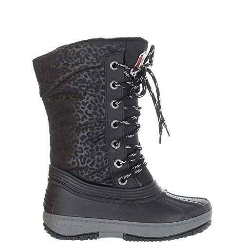 Boys Snow Boots Outdoor Waterproof Winter Kids Shoes Little Kid 1, Black