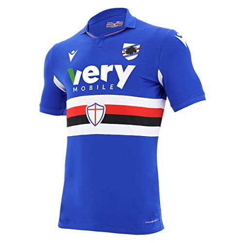 Macron Sampdoria Genua Home Shirt 20 21 U.C. Sampdoria Heim Trikot Fan Jersey, Größe:L