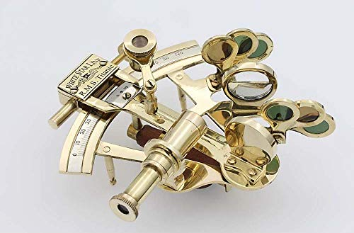 antiquegifts2019 Titanic Brass Sextant White Star Line-Solid Messing Sextant