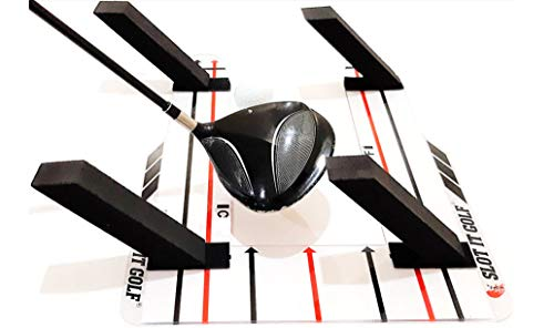 Slot It Golf Driver, Woods & Irons Swing Trainer (Patented Driver Design). Groove a Better Swing Path. Use Black Poles for Driver & Red Poles for Irons. Slot It Golf Swing Training Aid