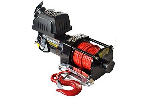 Warrior WW20SPA24 ATV/UTV Quad Elektrische Seilwinde Ninja 2000LB A 907 kg 24 V Kunststoffseil