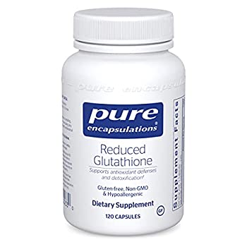 Pure Encapsulations Reduced Glutathione   Hypoallergenic Antioxidant Supplement to Support Liver and Cell Health*   120 Capsules