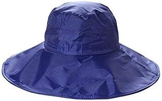 FengDing Cappello da Pioggia Donna, Cappello Protezione Solare Cappuccio Protezione UV da Bordo Largo