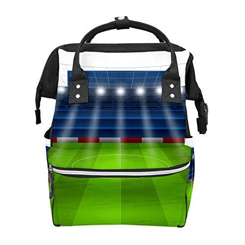 Bolsas de pañales para el campo de la pelota de fútbol de la noche Bolsas de mano para la momia de gran capacidad multifunción mochila para viajes