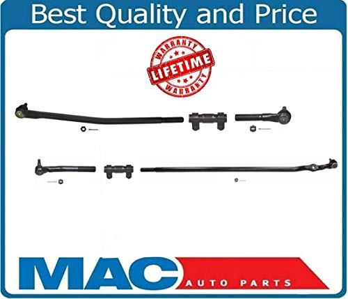 New Drag Link Tie Rods for Dodge Ram HD 2500 3500 98-99 With Solid Front Axle