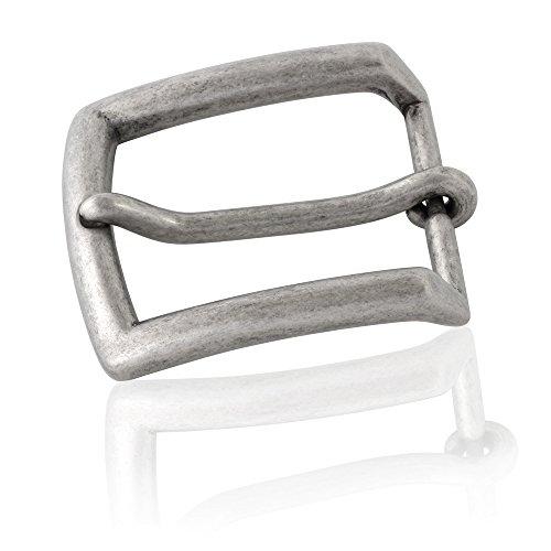 Gürtelschnalle Buckle 40mm Metall Silber Antik - Buckle Antique - Dornschliesse Für Gürtel Mit 4cm Breite - Silberfarben Antik
