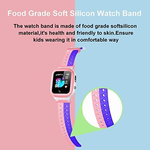 Smooce Kinder Smartwatch Telefon Uhr,wasserdichte Kid Smart Watch für Jungen Mädchen mit LBS Tracker SOS Anruf Kamera Anti-Lost Voice Chat (pink)