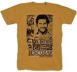 Styletex23 Pablo Escobar Narcos Serie EL Chapo Colombia el Pate Padron - Camiseta, color amarillo ocre M