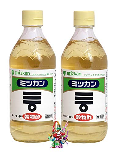 yoaxia ® - 2er Pack - [ 2x 500ml ] mizkan Getreideessig aus Japan / Sushi Essig / Grain Vinegar 4.2% Säure + ein kleines Glückspüppchen - Holzpüppchen
