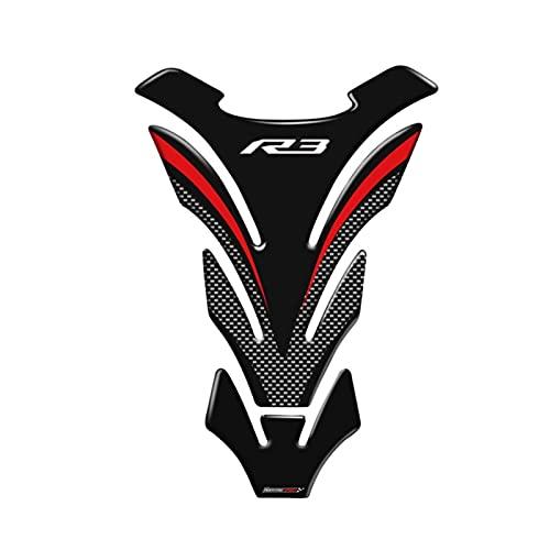 Pedals Motorcycle YZF R3 Etiquetas DE Motorycle Pendiente Tanque Protector DE Veces PORTALLAS DE LOS Etiquetas DE Yamaha R3 YZF-R3 VS TANKPAD (Color : C)