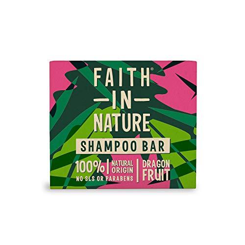 Faith In Nature Champú Solido Natural de Fruta del Dragón, Revitalizante, Vegano y no Testado en Animales, Sin Parabenos ni Sulfatos SLS, Para todo tipo de cabellos, 85g 85 g