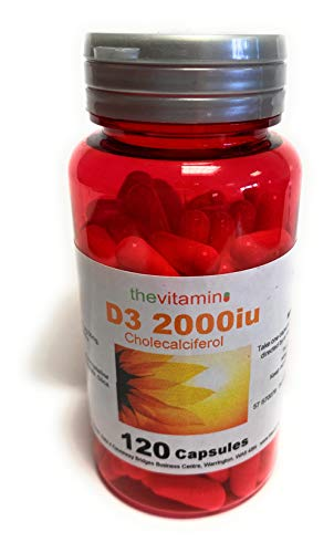 The Vitamin Vitamin D3 2000iu Cholecalciferol 120 Capsules - Potted