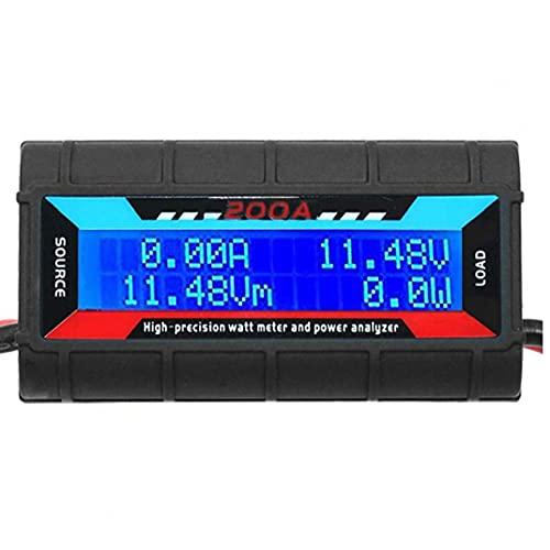 200A Analizador de potencia vatios medidor de potencia Analizador de alta precisión con pantalla LCD digital de voltaje de la energía actual, analizador de calidad eléctrica