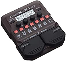 Zoom A1 FOUR Acoustic Instrument Multi-Effects Processor Pedal, Acoustic Modeling, Looper, Rhythm Section, For Guitar, Saxophone, Trumpet, Violin, Harmonica, and Upright Bass