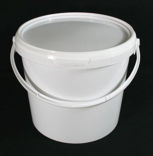 Confezione da 5 secchi ermetici per uso alimentare, in plastica, per miscelazione di catering, 5 litri, con coperchio, per uso industriale, per cucina e catering